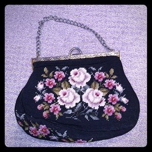Vintage Roses with gold/ silver hardware!!! 1930's